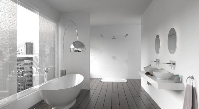 Biała łazienka W Mieście Nowoczesne Aranżacje łazienki