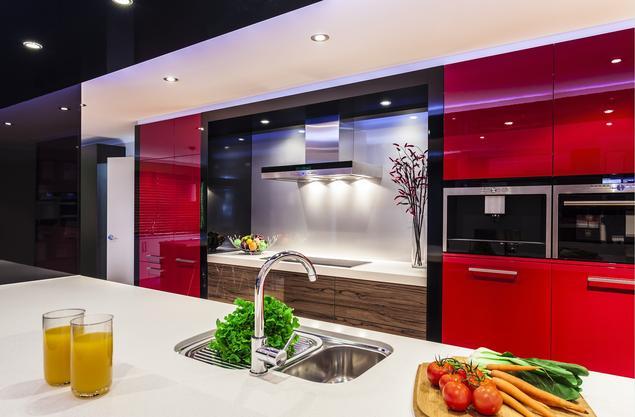 Czerwona kuchnia - fronty lakierowane