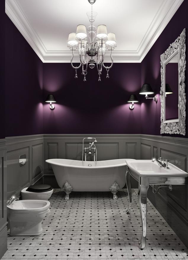 Projekty małych łazienek. Łazienka w stylu glamour