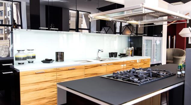 Nowoczesna, czarna kuchnia marzeń -> Kuchnia Nowoczesna Czarna Z Drewnem