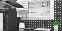Szklane fronty żaluzjowe – szafki kuchenne wiszące CLIMBER